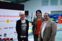 Sie ehrten Sieger und Platzierte: Marion Würkner, Imke duplitzer und Thomas Riedel